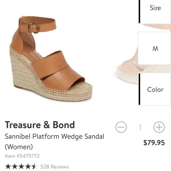 be352d22638 Treasure   Bond size 8 platform wedge sandal. M 5bc51082a31c33e29281e7b4